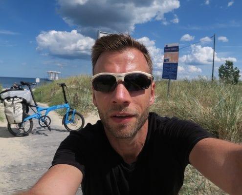Mit dem Birdy auf dem Usedomradweg - Am Strand von Zinnowitz
