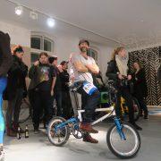 Ian von Hexlox auf unserem Tyrell IVE auf der After Show Party der Fahrradschau 2016