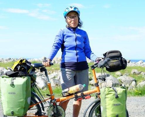 Faltradtour durch Norwegen – France auf ihrem Bikefriday