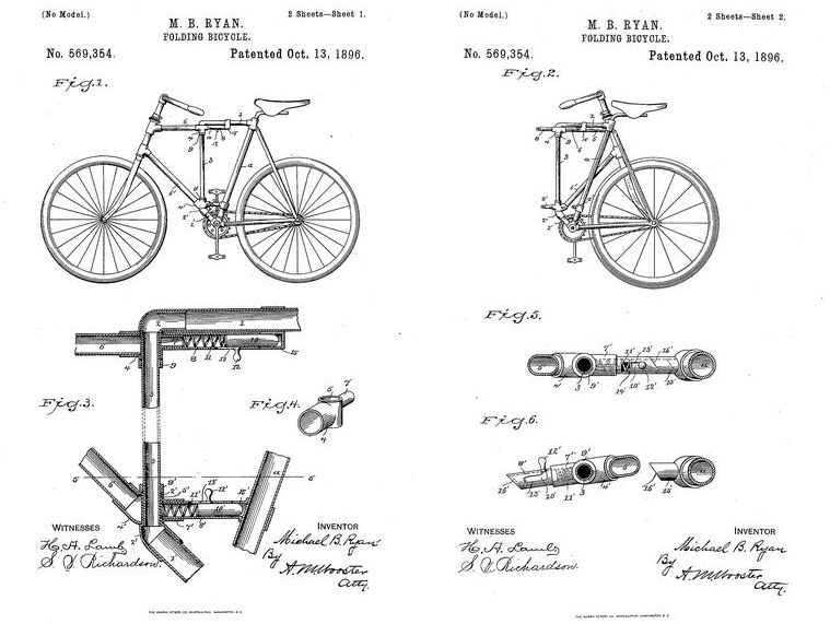 Folding Bike Patent 1896 von Michael Neubert, CC BY 2.0