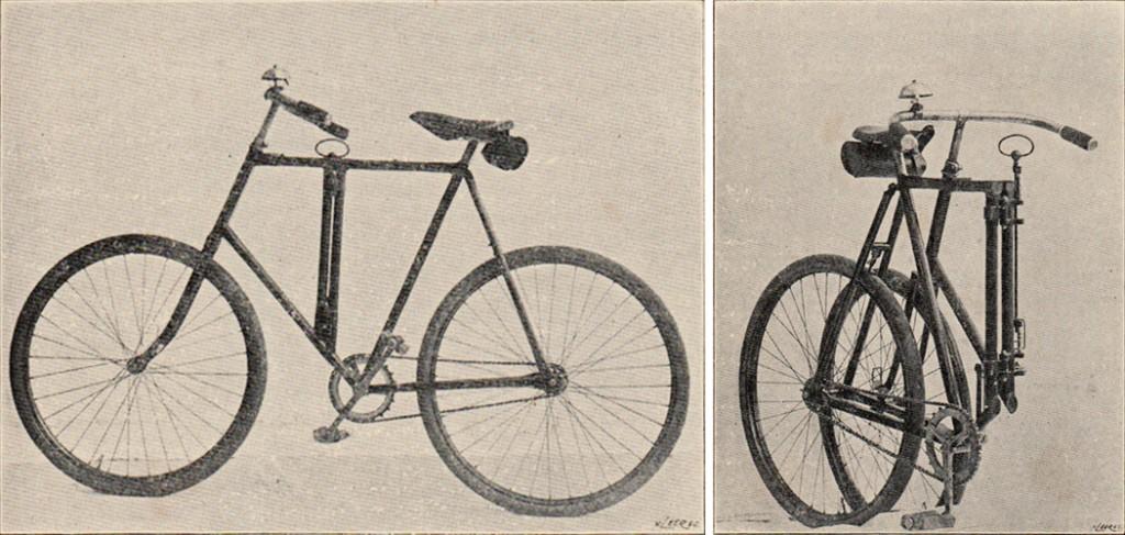 Klapprad nach Wagtendonk, ca. 1910, Quelle: Wikipedia
