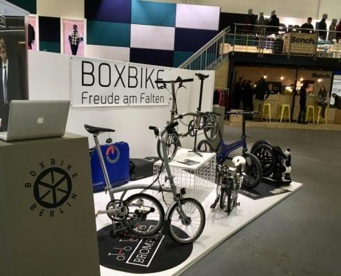 Boxbike-Stand auf der Fashion Messe Panorama Berlin